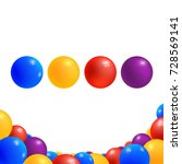 colored balls isolated on white ... | Shutterstock .eps vector #728569141