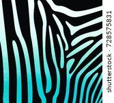 zebra print in blue watercolor | Shutterstock . vector #728575831