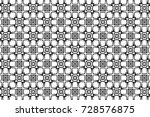 ornament with elements of black ...   Shutterstock . vector #728576875