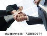business partnership meeting...   Shutterstock . vector #728580979