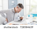 stressed businessman with...   Shutterstock . vector #728584639