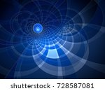 abstract fractal background... | Shutterstock . vector #728587081