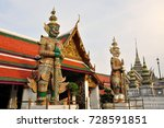giant statues in the famous... | Shutterstock . vector #728591851