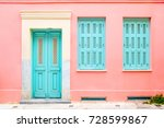 Colorful Turquoise Blue Door...
