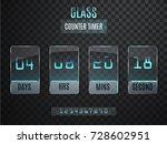 glass counter timer.... | Shutterstock .eps vector #728602951