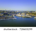 boston massachusetts usa back... | Shutterstock . vector #728603299