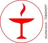 vector symbol of zoroastrianism ... | Shutterstock .eps vector #728604097