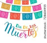 dia de los muertos  mexican day ... | Shutterstock .eps vector #728604955
