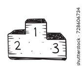 podium doodle  | Shutterstock .eps vector #728606734