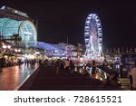 darling harbour with people ... | Shutterstock . vector #728615521