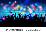 colorful crowd of party people...   Shutterstock . vector #72861610