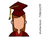 student graduation cartoon | Shutterstock .eps vector #728616259