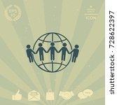 earth icon. communication... | Shutterstock .eps vector #728622397