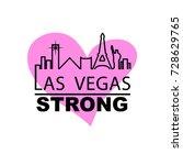las vegas strong city outline...   Shutterstock .eps vector #728629765