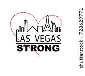 las vegas strong city outline...