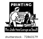 printing   no job too large or... | Shutterstock .eps vector #72863179