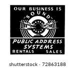 public address system   retro... | Shutterstock .eps vector #72863188