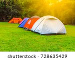 tents for tourists during the... | Shutterstock . vector #728635429