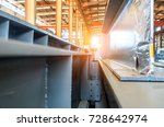 steel factory floor  stacked... | Shutterstock . vector #728642974