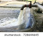 add raw water to the storage...   Shutterstock . vector #728644645