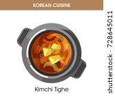 korean cuisine kimchi tighe...   Shutterstock .eps vector #728645011