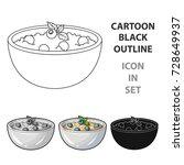 delicious vegetarian porridge... | Shutterstock .eps vector #728649937