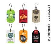 set of sale banner. special... | Shutterstock .eps vector #728662195
