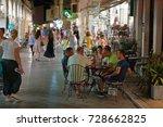 corfu town  greece   august 02  ...   Shutterstock . vector #728662825