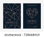 geometric rose gold design...   Shutterstock .eps vector #728668414