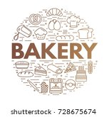 bakery background. icon set.... | Shutterstock .eps vector #728675674