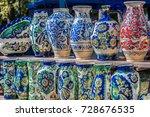 romanian traditional ceramic in ... | Shutterstock . vector #728676535