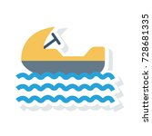 boat icon | Shutterstock .eps vector #728681335