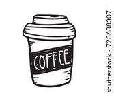 coffee cup doodle  | Shutterstock .eps vector #728688307