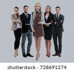 group of smiling business... | Shutterstock . vector #728691274