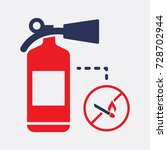 fire extinguisher and match... | Shutterstock .eps vector #728702944
