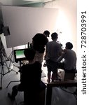 behind the scene of silhouette... | Shutterstock . vector #728703991