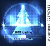 cyber tree. loading 2018.   Shutterstock .eps vector #728707681