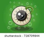 Halloween Eye Ball Cartoon On...