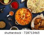 indian cuisine on diwali... | Shutterstock . vector #728713465