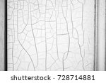 old and peeled creaky paint... | Shutterstock . vector #728714881
