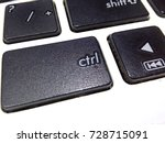 control key on the keyboard | Shutterstock . vector #728715091
