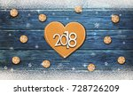 christmas background with... | Shutterstock . vector #728726209