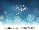 wonderful time hand lettering... | Shutterstock .eps vector #728729407