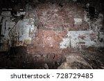 ruined old building  the inner... | Shutterstock . vector #728729485