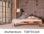 spacious and bright bed room... | Shutterstock . vector #728731165