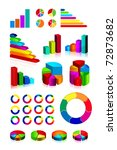 set of shiny graphics and... | Shutterstock . vector #72873682