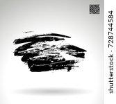 black brush stroke and texture. ... | Shutterstock .eps vector #728744584