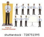 set of corporate  businessman... | Shutterstock .eps vector #728751595