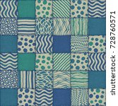 patchwork quilt seamless... | Shutterstock . vector #728760571