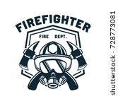 firefighter logo  emblems and... | Shutterstock .eps vector #728773081